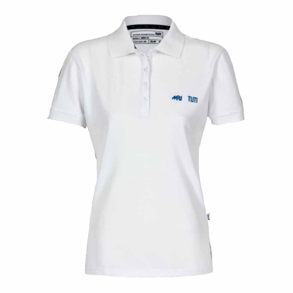 TUM MRI polo shirt white Women