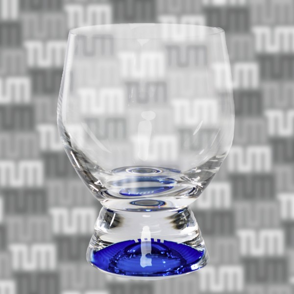 TUM drinking glass, small